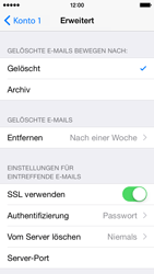 Apple iPhone 5s - iOS 8 - E-Mail - Manuelle Konfiguration - Schritt 26
