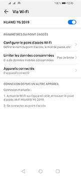 Huawei Y6 (2019) - Internet et connexion - Partager votre connexion en Wi-Fi - Étape 10
