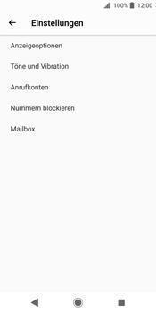 Sony Xperia XZ2 - Anrufe - Rufumleitungen setzen und löschen - Schritt 6