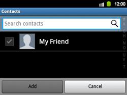 Samsung B5510 Galaxy TXT - E-mail - Sending emails - Step 7
