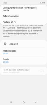 Samsung Galaxy A71 - Internet et connexion - Partager votre connexion en Wi-Fi - Étape 8