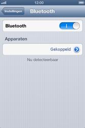 Apple iPhone 4S met iOS 6 (Model A1387) - Bluetooth - Headset, carkit verbinding - Stap 7