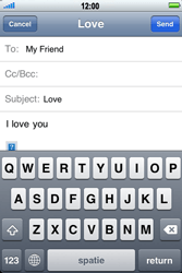 Apple iPhone 4 - Email - Sending an email message - Step 9