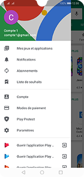 Huawei Y7 (2019) - Applications - comment vérifier si des mises à jour sont disponibles pour l'appli - Étape 4