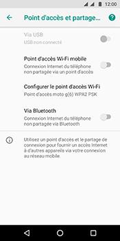 Motorola Moto G6 - Internet et connexion - Partager votre connexion en Wi-Fi - Étape 6