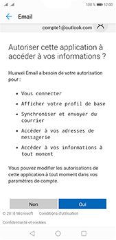 Huawei P20 Pro - E-mail - 032c. Email wizard - Outlook - Étape 9
