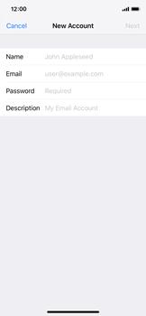 Apple iPhone X - iOS 12 - E-mail - Manual configuration POP3 with SMTP verification - Step 8