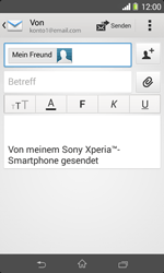 Sony Xperia E1 - E-Mail - E-Mail versenden - 1 / 1