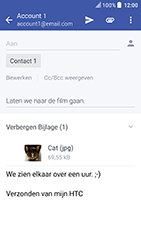 HTC U Play - E-mail - Bericht met attachment versturen - Stap 17