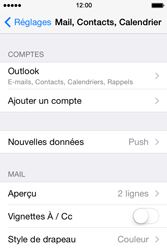 Apple iPhone 4S iOS 7 - E-mail - 032c. Email wizard - Outlook - Étape 10