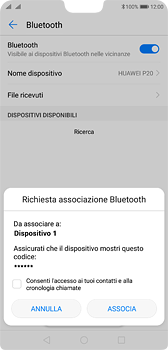 Huawei P20 - Bluetooth - Collegamento dei dispositivi - Fase 7