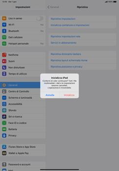 Apple iPad Pro 11 (2018) - iPadOS 13 - Dispositivo - Ripristino delle impostazioni originali - Fase 8