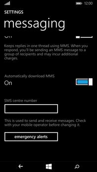 Microsoft Lumia 640 XL - SMS - Manual configuration - Step 8