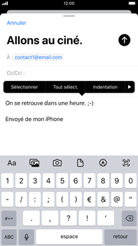 Apple iPhone 8 Plus - iOS 13 - E-mail - envoyer un e-mail - Étape 8
