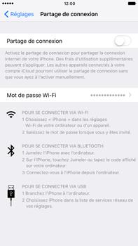 Apple iPhone 7 Plus - Internet et connexion - Partager votre connexion en Wi-Fi - Étape 4