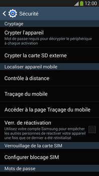 Samsung Galaxy Note 3 - Sécuriser votre mobile - Personnaliser le code PIN de votre carte SIM - Étape 6