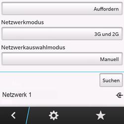 BlackBerry Q10 - Netzwerk - Manuelle Netzwerkwahl - Schritt 11