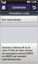 LG GD900 Crystal - E-mail - Configuration manuelle - Étape 12