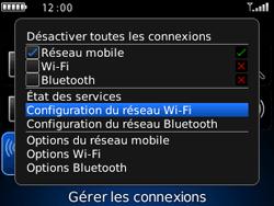BlackBerry curve 3G - Internet et connexion - Accéder au réseau Wi-Fi - Étape 4