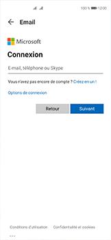 Huawei P40 - E-mails - Ajouter ou modifier votre compte Outlook - Étape 5