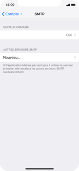 Apple iPhone XS - E-mail - configuration manuelle - Étape 17