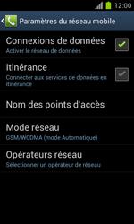 Samsung Galaxy S II - Internet et roaming de données - Désactivation du roaming de données - Étape 7