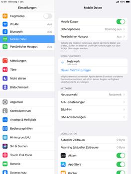 Apple iPad mini (2019) - iPadOS 13 - Internet und Datenroaming - Prüfen, ob Datenkonnektivität aktiviert ist - Schritt 5