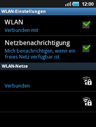 Samsung S5570 Galaxy Mini - WLAN - Manuelle Konfiguration - Schritt 9