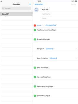 Apple iPad mini 2 - Kontakte - Neuen Kontakt hinzufügen - 9 / 12