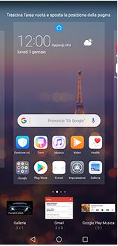 Huawei P20 Pro - Operazioni iniziali - Installazione di widget e applicazioni nella schermata iniziale - Fase 6