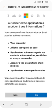 Samsung Galaxy S9 - E-mail - Configuration manuelle (outlook) - Étape 8