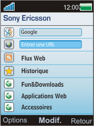 Sony W595 - Internet - Navigation sur Internet - Étape 3