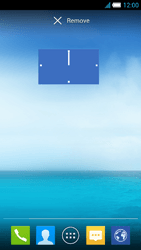 Alcatel One Touch Idol S - Getting started - Installing widgets and applications on your start screen - Step 8