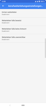 Sony Xperia 10 Plus - Anrufe - Rufumleitungen setzen und löschen - Schritt 9