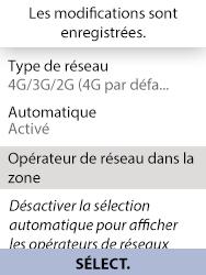 Alcatel 3088X - Internet et connexion - Activer la 4G - Étape 8