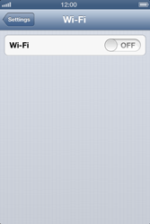 Apple iPhone 4S - WiFi - WiFi configuration - Step 4