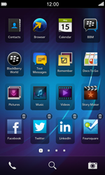 BlackBerry Z10 - Getting started - Personalising your Start screen - Step 10