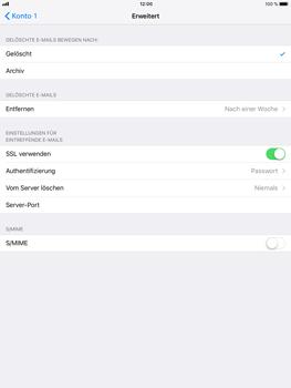 Apple iPad Air 2 mit iOS 11 - E-Mail - Konto einrichten - Schritt 22