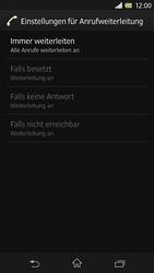 Sony Xperia Z - Anrufe - Rufumleitungen setzen und löschen - Schritt 8