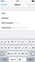 Apple iPhone 5s iOS 8 - E-mail - 032b. Email wizard - Yahoo - Étape 8