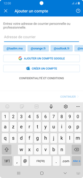 Samsung Galaxy Note20 Ultra 5G - E-mails - Ajouter ou modifier votre compte Outlook - Étape 7