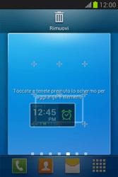 Samsung Galaxy Fame Lite - Operazioni iniziali - Installazione di widget e applicazioni nella schermata iniziale - Fase 8