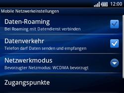 Sony Ericsson Xperia X10 Mini Pro - Ausland - Im Ausland surfen – Datenroaming - 8 / 11