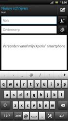 Sony LT22i Xperia P - E-mail - E-mails verzenden - Stap 5