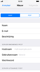 Apple iphone-5s-ios-12 - E-mail - Account instellen (IMAP zonder SMTP-verificatie) - Stap 11