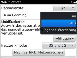 BlackBerry Bold Touch - Ausland - Auslandskosten vermeiden - 1 / 1
