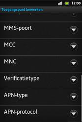 Sony ST27i Xperia Go - MMS - Handmatig instellen - Stap 13