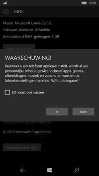 Microsoft Lumia 950 XL - Toestel reset - terugzetten naar fabrieksinstellingen - Stap 7
