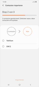 Samsung Galaxy S20 Ultra 5G Dual SIM eSIM SM-G988B - Contacten en data - Contacten kopiëren van SIM naar toestel - Stap 11