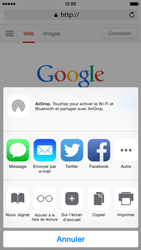 Apple iPhone 6 iOS 8 - Internet et roaming de données - Navigation sur Internet - Étape 7